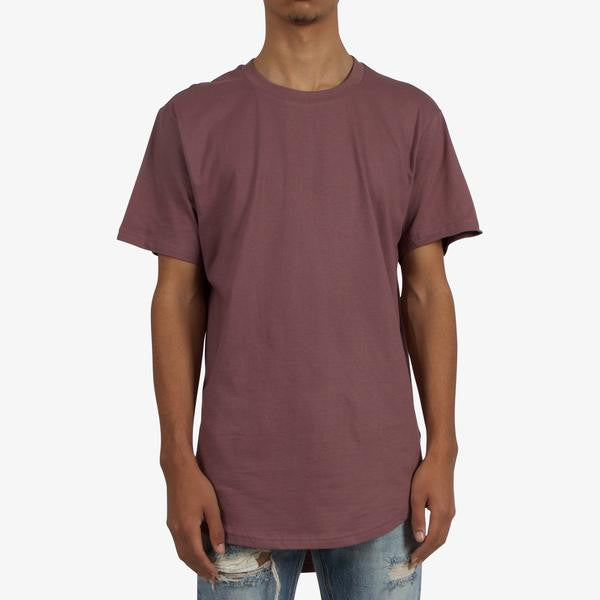 MNML Split-Back Scallop Tee (Rose Scallop)
