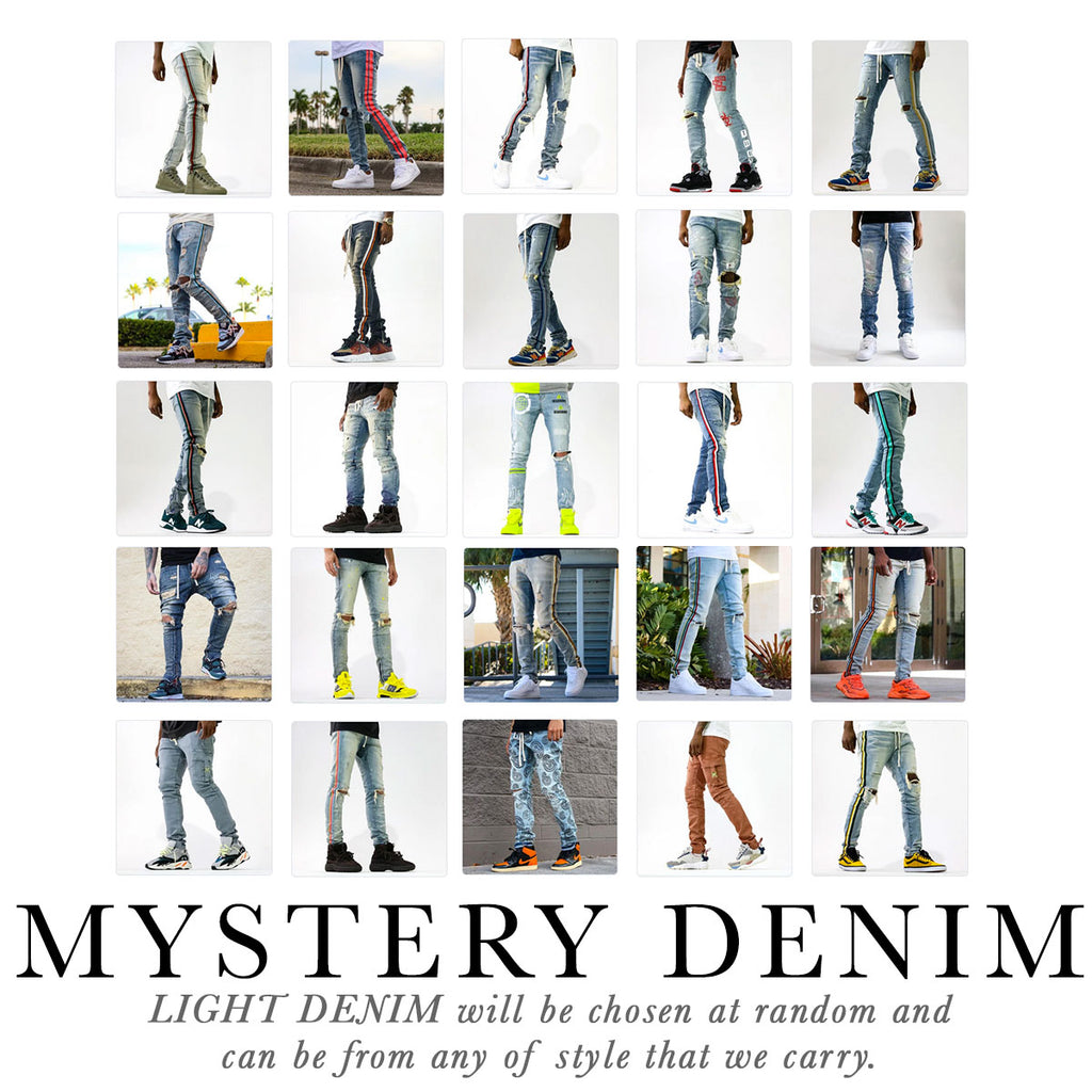 Mystery Denim - Light Wash Denim
