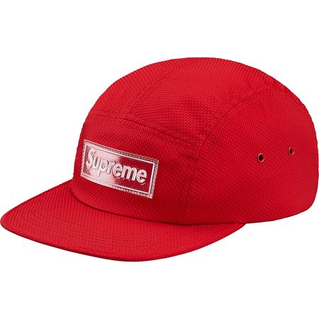 Supreme Nylon Pique Camp Cap- Red