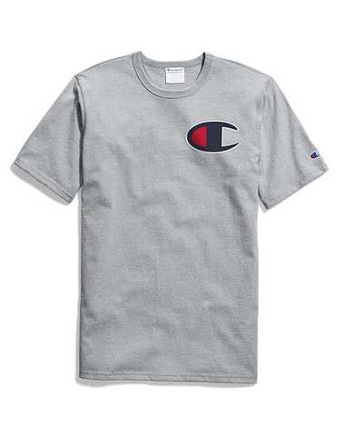 Champion Life® C Applique Logo Tee- Oxford Grey