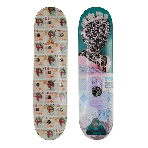 Palace Skateboards X Thames Tenner Skateboard Deck