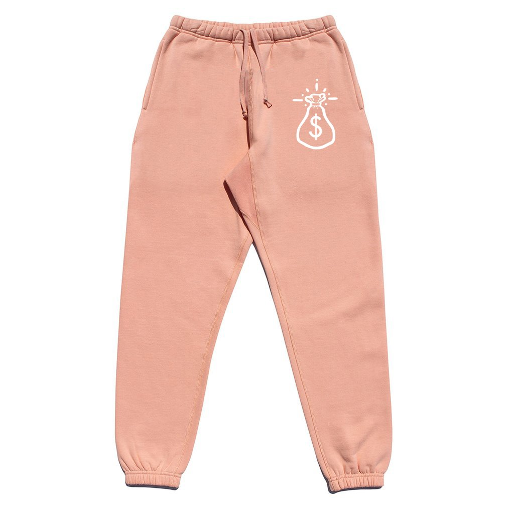 Money Bag Pink Fleece Jogger