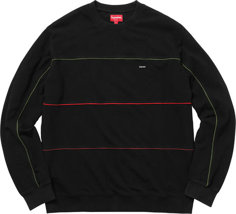 Supreme Gucci Piping Crewneck