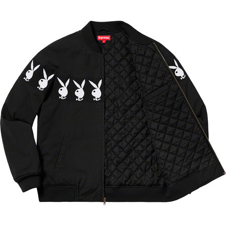 Supreme Playboy Crew Jacket- Black