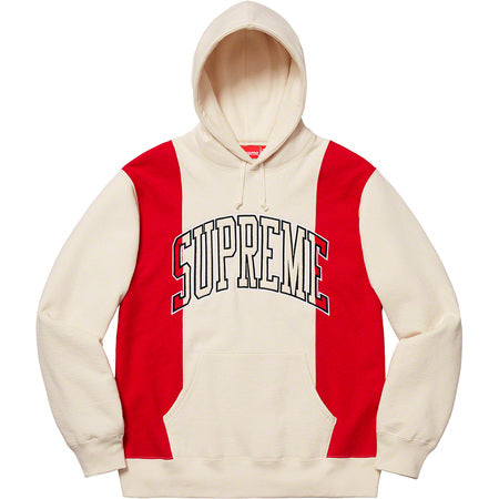Supreme Paneled Arc Hooded Sweatshirt- Natural