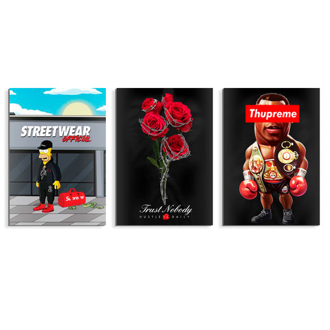 Streetwear Official 3pk Poster Set