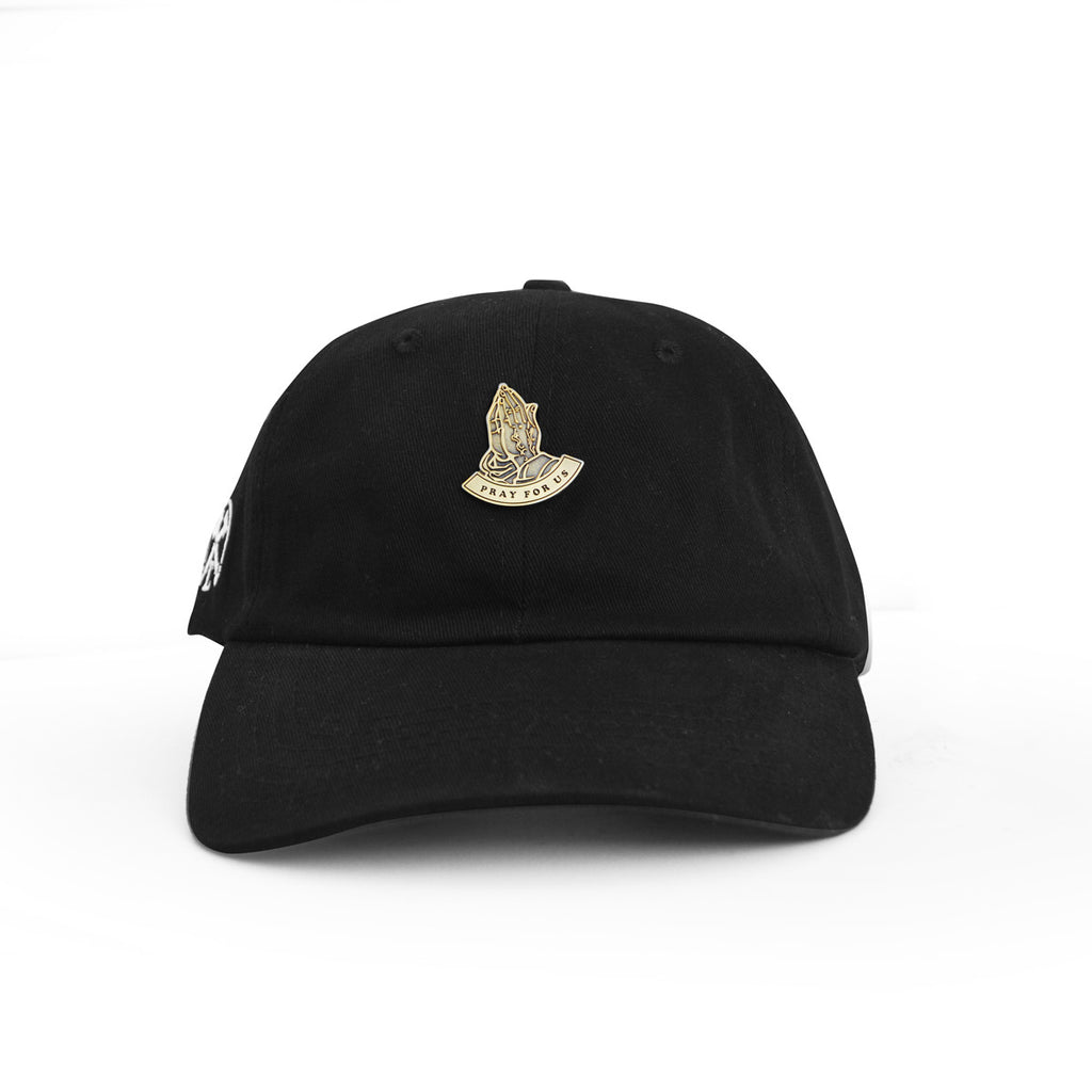 PRAY FOR US BROCHE PIN CORE STRAPBACK