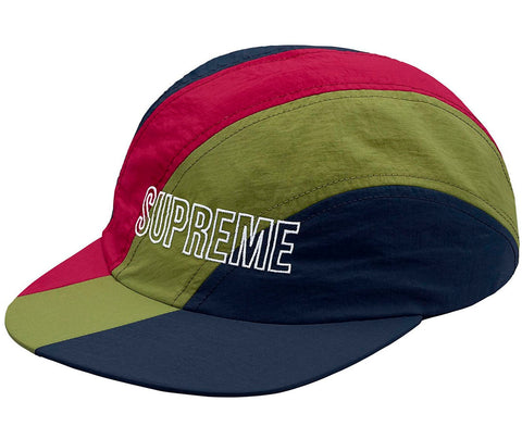 Supreme Diagonal Stripe Nylon Hat- Navy