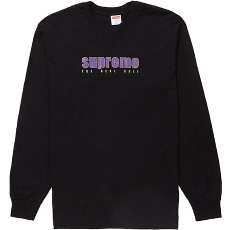 Supreme The Real Shit L/S Tee- Black