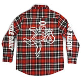 Hustle Daily Angel Flannel Jacket - Red