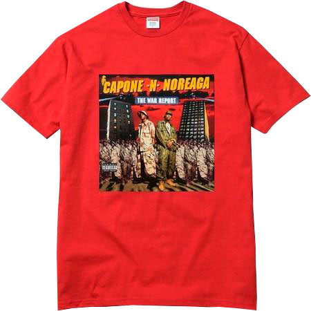 supreme capone noreaga tee red streetwear official