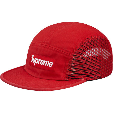 Supreme Mesh  Side Panel Camp Cap- Red