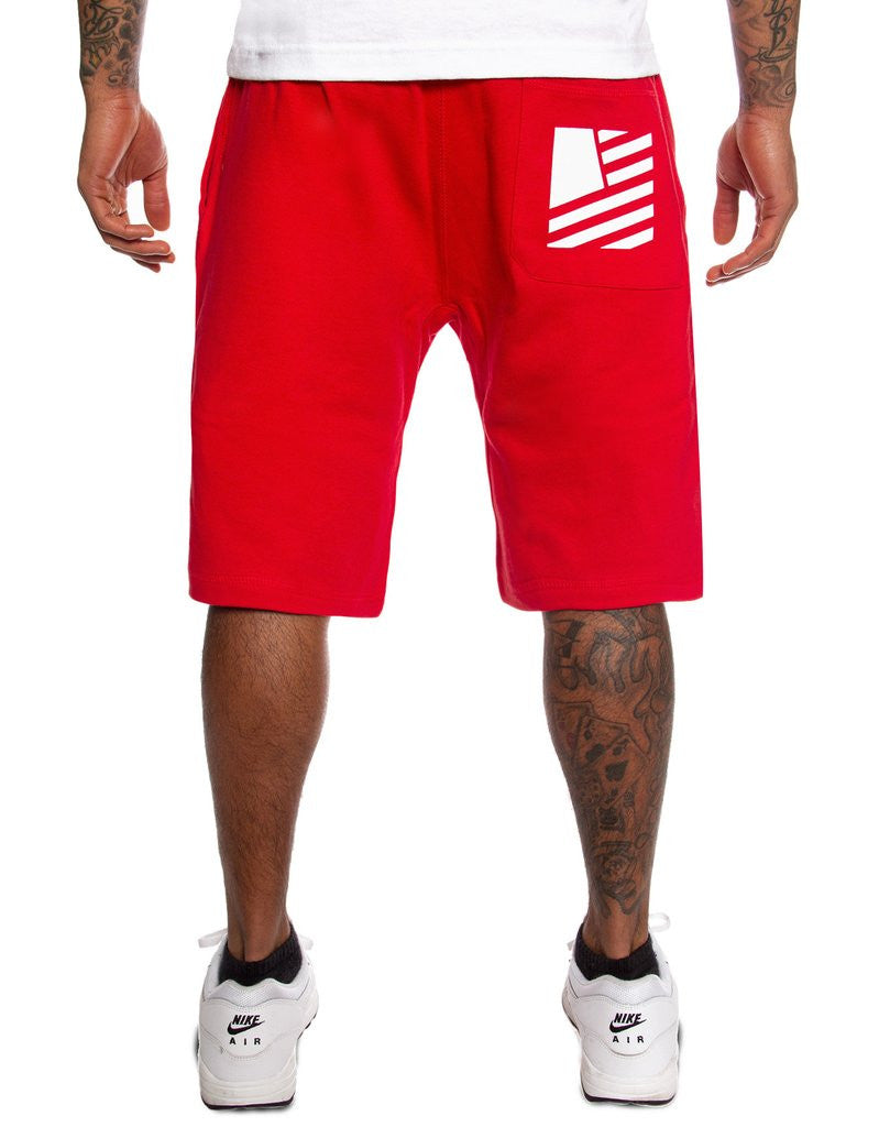POPULAR SCRIPT SWEAT SHORTS (red)