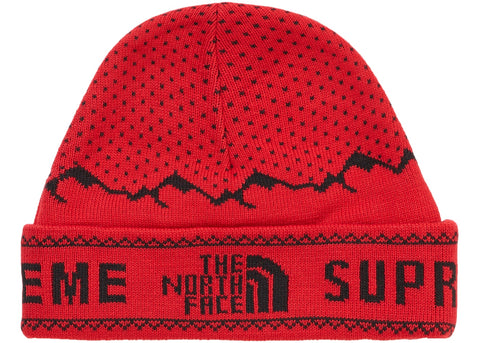 Supreme The North Face Fold Beanie- Red