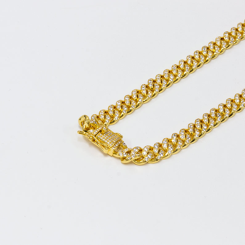 Iced Out Cuban Link Gold Chain