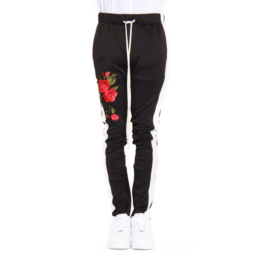 Rose Patch Track Pants