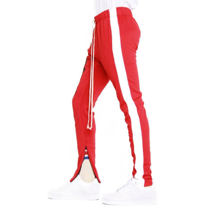 ROSE PATCH TRACK PANTS (red)