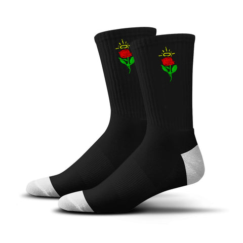 Rose Socks (Black)