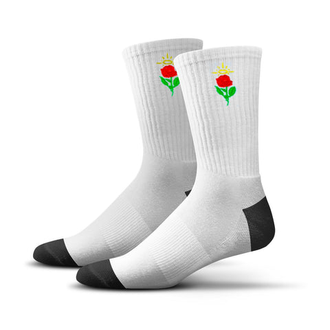 Rose Socks (White)