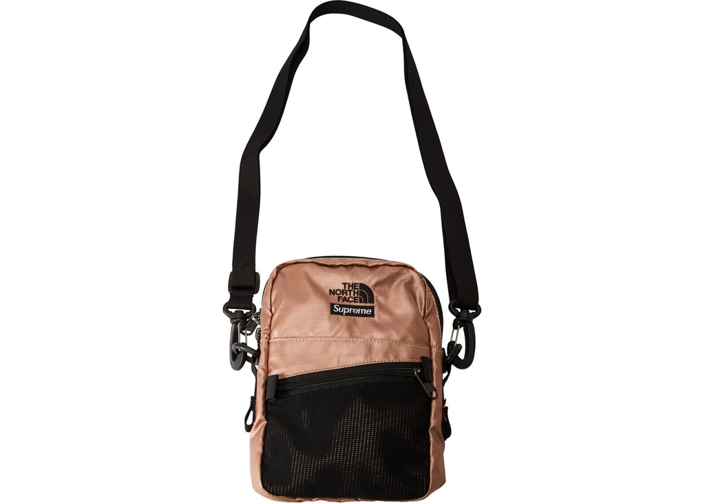 Supreme The North Face Metallic Shoulder Bag- Rose Gold