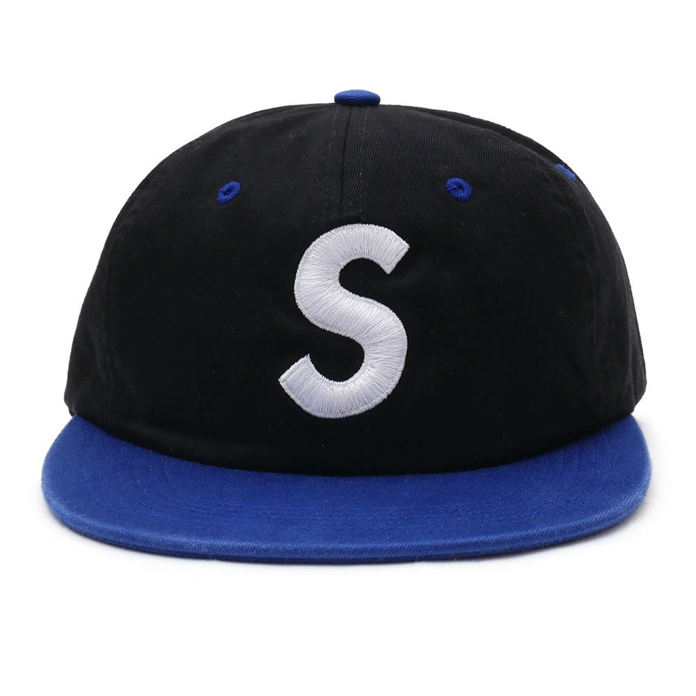 SUPREME black 2-Tone Washed S Logo 6-Panel
