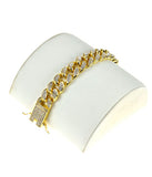 Full Stone Cuban Bracelet- Gold