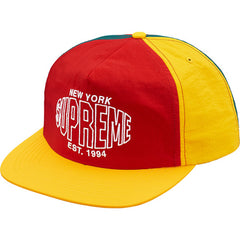 Supreme Pinwheel Nylon 5-Panel Hat- Red