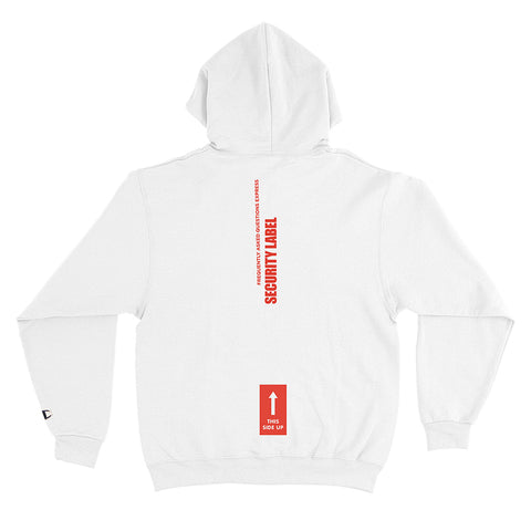 Security Label Hoodie- White