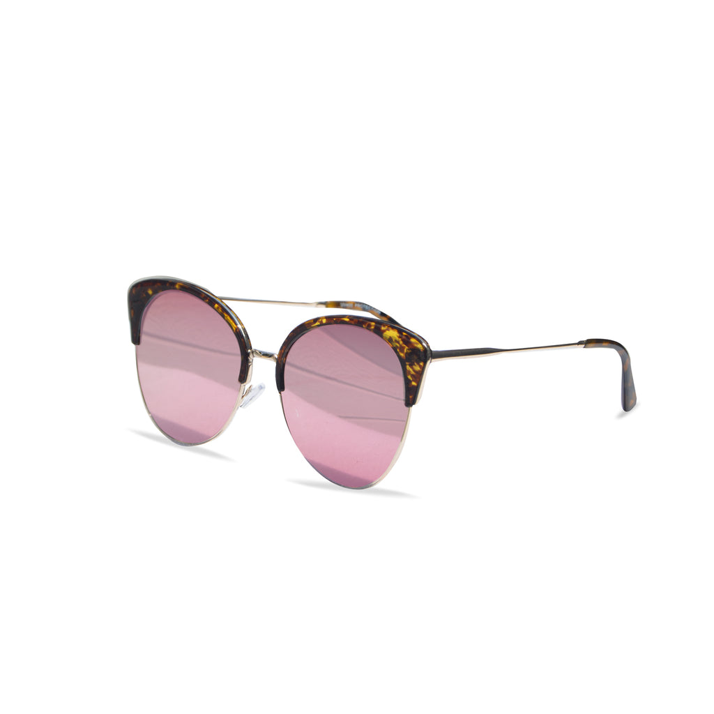 Lust Winged Cat Eye Sunglasses (Tortoiseshell/Pink)