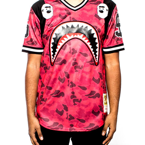 Sharkmouth Baseball Jersey - Red