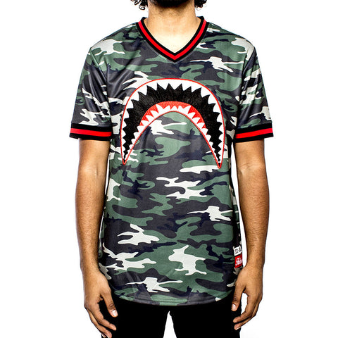 Sharkmouth Baseball Jersey - Camo