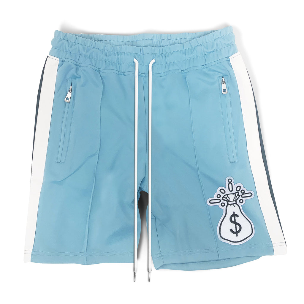 Blue Stripe Money Bag Shorts