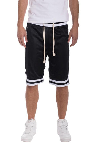 EDWIN Double Mesh Short Pants- Black/White