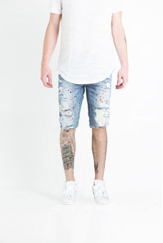 Khal Denim Short (Light Blue)