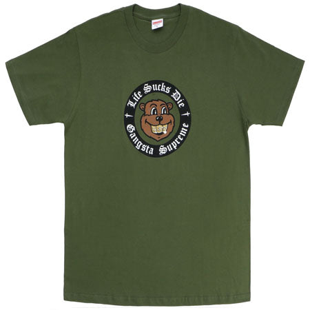 Supreme Life Sucks Die Tee- Olive