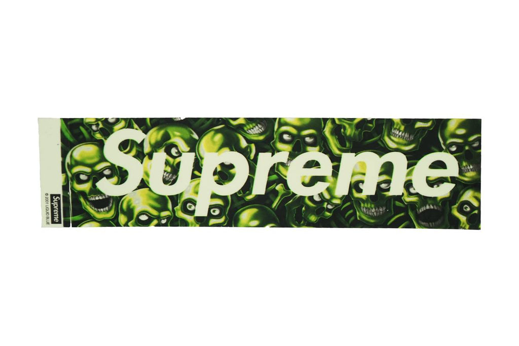 Supreme Skull Box Logo Sticker