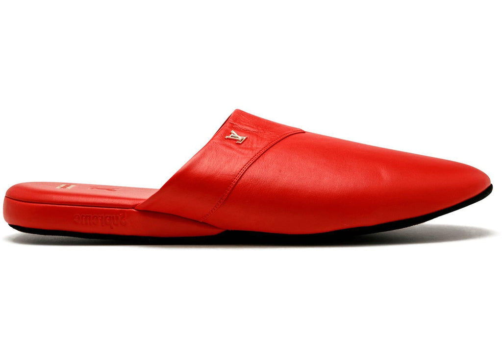 Supreme / Louis Vuitton Hugh Slippers- Red