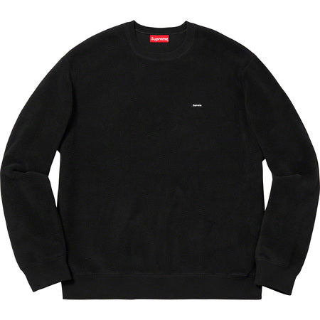 Supreme Polartec Small Box Crewneck- Black
