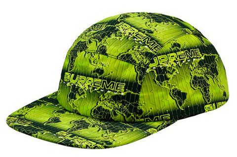 Supreme World Famous Taped Seam Camp Cap- Acid Green
