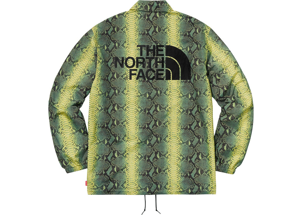 Supreme The North Face Snakeskin Taped Seam Coaches Jacket- Green