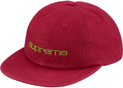 Supreme Compact Logo 6-Panel Hat - Red