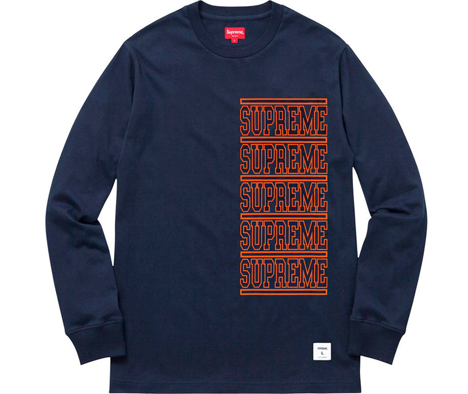 Supreme Stacked L/S Top- Navy