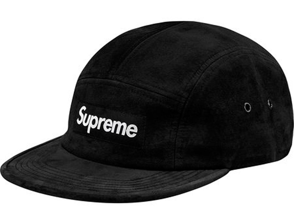Supreme Suede Camp Cap- Black