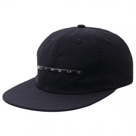 SUPREME : CHROME STRIPE 6-PANEL BLACK