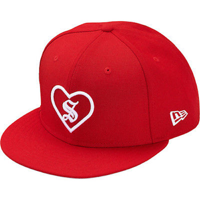 Supreme Red Heart New Era Hat