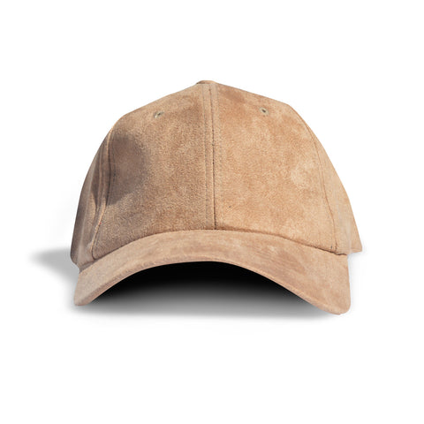 Tan Faux Suede Dad Cap
