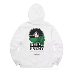 Supreme UNDERCOVER/Public Enemy Terrordome Hooded Sweatshirt- White