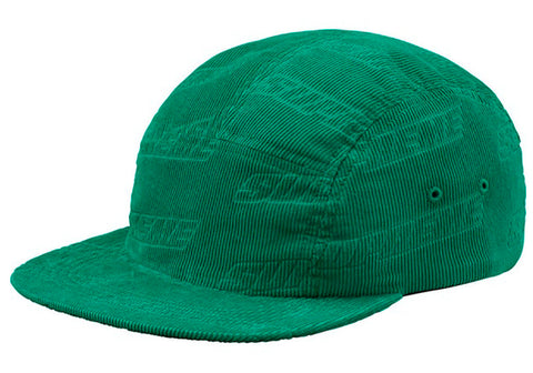 Supreme Embossed Logo Corduroy Camp Cap- Teal