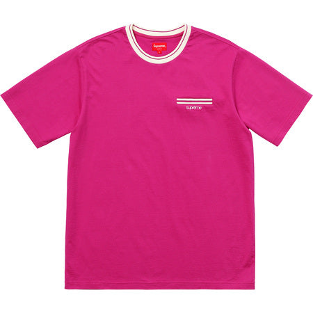 Supreme Ribbed Pocket Tee- Magenta