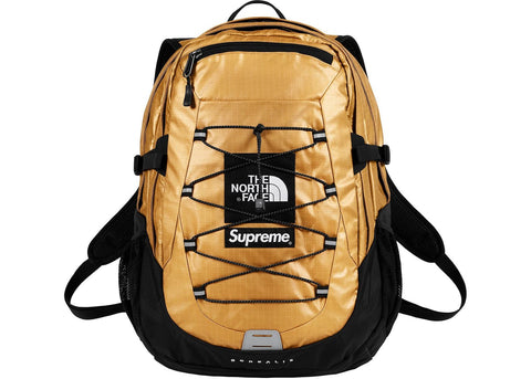 Supreme The North Face Metallic Borealis Backpack- Gold